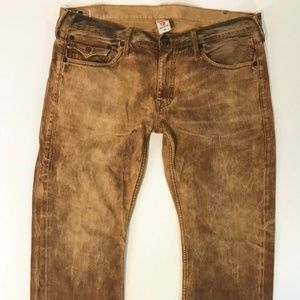 True Religion Mens Ricky Jeans SZ 40 Seat 34 Wheat